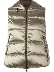 Duvetica 'Febedue' Sleeveless Puffer Jacket Metallic