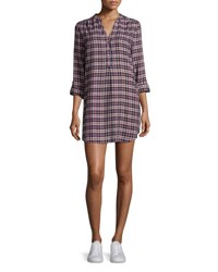 Joie Daysa Plaid Shirtdress Peacoat Rose Peacoat Rose