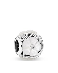 Pandora Design Pandora Charm Sterling Silver Cubic Zirconia And Mother Of Pearl Luminous Florals Moments Collection