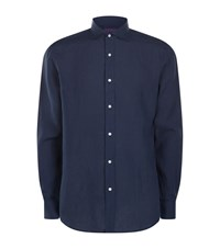 Ralph Lauren Linen Shirt Male Navy