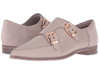 Ted Baker Naoi Light Grey Box Leather Suede Women's Flat Shoes Beige