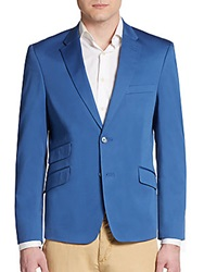 Tommy Hilfiger Regular Fit Solid Stretch Cotton Sportcoat