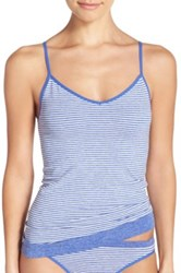 Nordstrom Stripe Two Way Seamless Camisole Blue