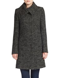 Jones New York Chunky Tweed Wool Blend Coat Grey