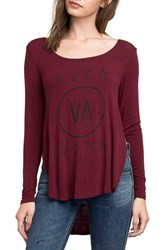 Rvca Women's High End 3 Tee Red