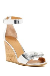 Marc By Marc Jacobs Bow Wedge Sandal Metallic