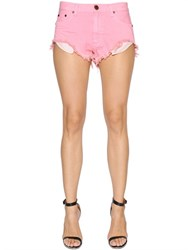 One Teaspoon Rollers Destroyed Cotton Denim Shorts