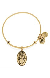 Women's Alex And Ani 'Key To Life' Expandable Wire Bangle Gold