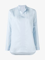 Marie Marot Mary Cotton Tunic Shirt Blue