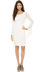 5Th And Mercer Long Sleeve Fringe Dress Ivory