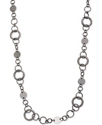 Styleandco. Style And Co. Hematite Tone Long Circle Necklace Only At Macy's
