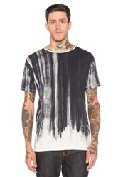 Nudie Jeans Loose Water Flow Tee Black And White