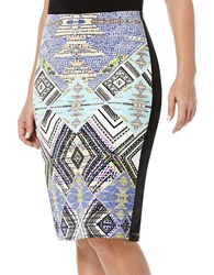 Rafaella Tribal Print Jersey Pencil Skirt Lapiz