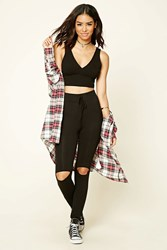 Forever 21 Distressed Stretch Knit Pants