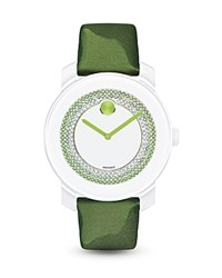 Movado Bold Green Watch With Sunray Dial 36Mm Bloomingdale's Exclusive White Green