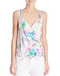 Amanda Uprichard Blythe Silk Tank Waterfall Floral