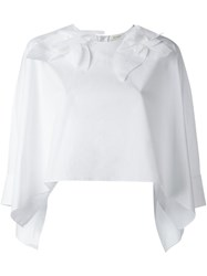 Delpozo Cropped Blouse White
