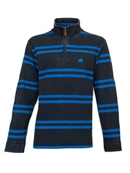 Raging Bull Big And Tall Double Stripe 1 4 Zip Top Blue