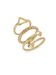Abs By Allen Schwartz Stackable Rings Set Of 3 Gold