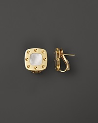 Roberto Coin 18K Yellow Gold And Mother Of Pearl Pois Moi Earrings Gold White