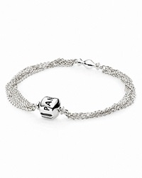 Pandora Design Pandora Bracelet Sterling Silver Multi Strand With One Clip Station Moments Collection