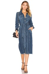 7 For All Mankind Denim Shirt Dress Blue