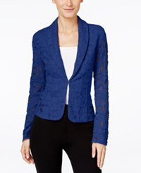 Inc International Concepts Lace Blazer Only At Macy's Goddess Blue