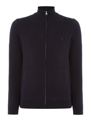 Gant Men's Cotton Full Zip Knitted Cardigan Navy