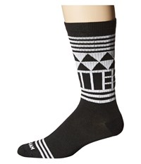 Wigwam Lingo Crew Black White Crew Cut Socks Shoes