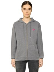 Mcq By Alexander Mcqueen Swallow Hooded Zip Up Cotton Sweatshirt
