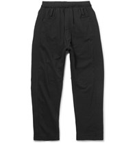 Haider Ackermann Grosgrain Trimmed Loopback Cotton Jersey Sweatpants Black