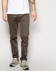 Replay Chinos Slim Fit Washed Gabardine Grey