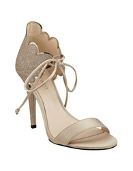Nine West Carly Scalloped Dress Sandals Light Gold