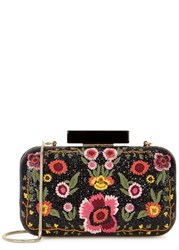 Alice Olivia Bohemian Large Embroidered Box Clutch Multicoloured