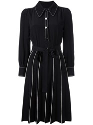 Marc Jacobs Piped A Line Shirt Dress Black