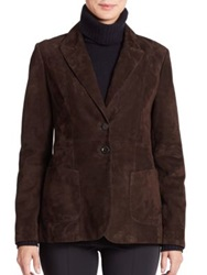 Pauw Long Suede Blazer Chocolate