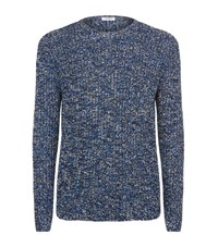 Valentino Loose Weave Chunky Sweater Male Blue