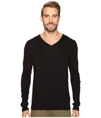 Calvin Klein Cotton Modal V Neck Sweater Black Men's Sweater