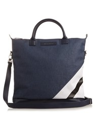 Want Les Essentiels O'hare Striped Cotton Canvas Tote Navy Multi