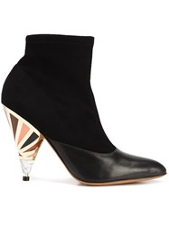 Givenchy Prism Heel Ankle Boots Black