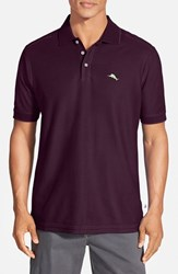 Tommy Bahama Men's Big And Tall 'The Emfielder' Pique Polo Rum Berry