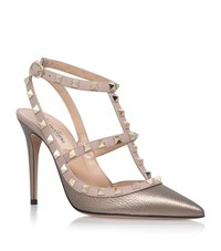 Valentino Rockstud Metallic Pumps 100 Female Bronze