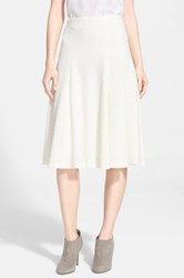 Alice Olivia 'Kimi' Midi Skirt White