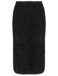 Lucas Nascimento Black Tinsel Knit Slip Skirt
