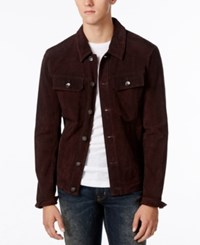 William Rast Men's Dayton Suede Jacket Ox Blood