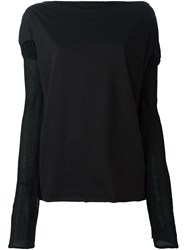 Vivienne Westwood Anglomania Sheer Cut Longsleeves Blouse Black