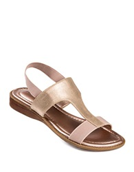 Me Too Zoey Metallic Leather Sandals Pink