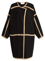 Chloe Wool And Cashmere Blend Coat Black Multi
