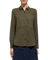 Whistles Amy Shirt Khaki