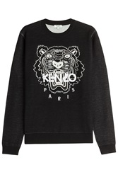 Kenzo Embroidered Wool Cotton Pullover Black